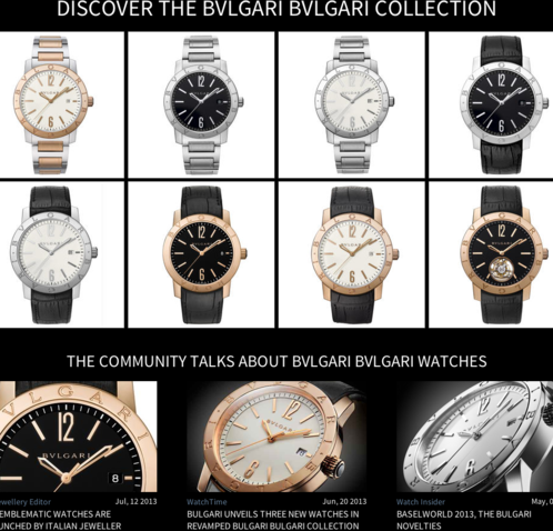 Watchonista - Action Bulgari Bulgari : collection