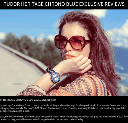 Watchonista - Action Tudor Chrono Blue : Reviews